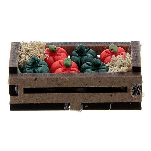Peperoni resina in cassetta presepe 10-12 cm 3