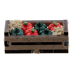 Resin peppers in a box for Nativity Scene with 10-12 cm figurines s3