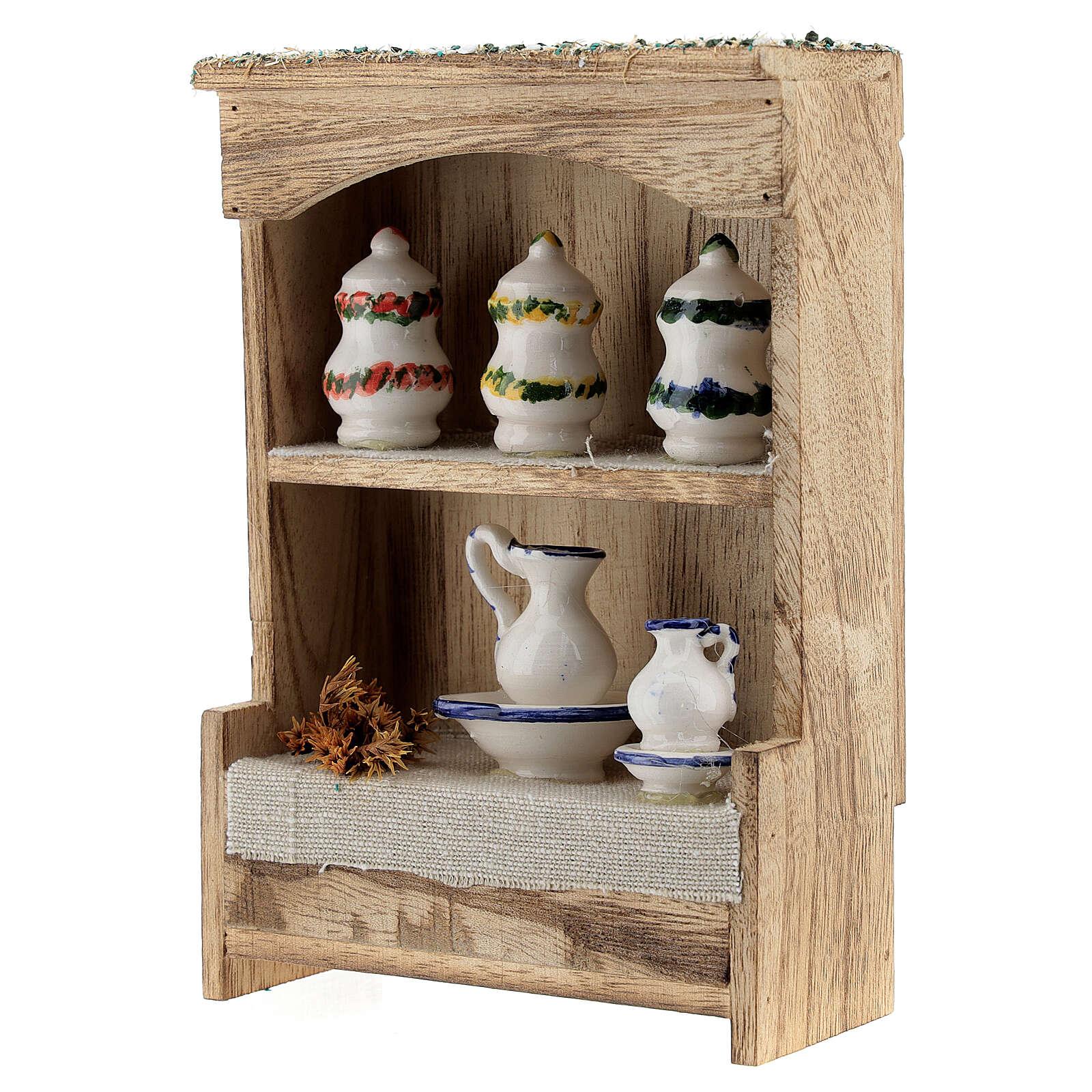 DIY Nativity scene cupboard measuring 14.5x10x4.4 cm 4