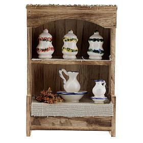 DIY Nativity scene cupboard measuring 14.5x10x4.4 cm s1