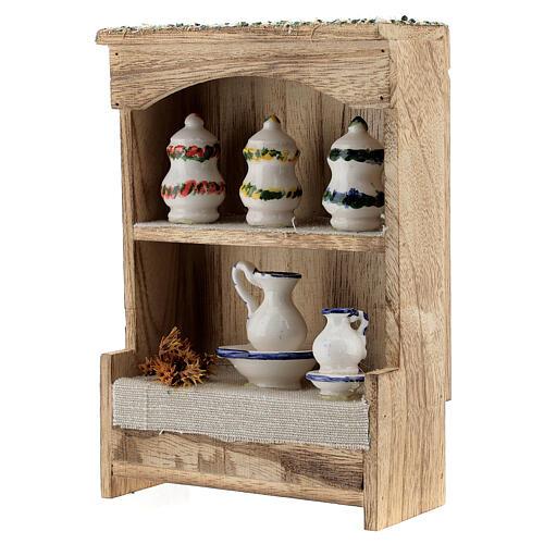 DIY Nativity scene cupboard measuring 14.5x10x4.4 cm 3