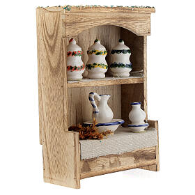 Cupboard with chinaware 15x10x4 cm for Nativity Scene with 12-14 cm figurines s4