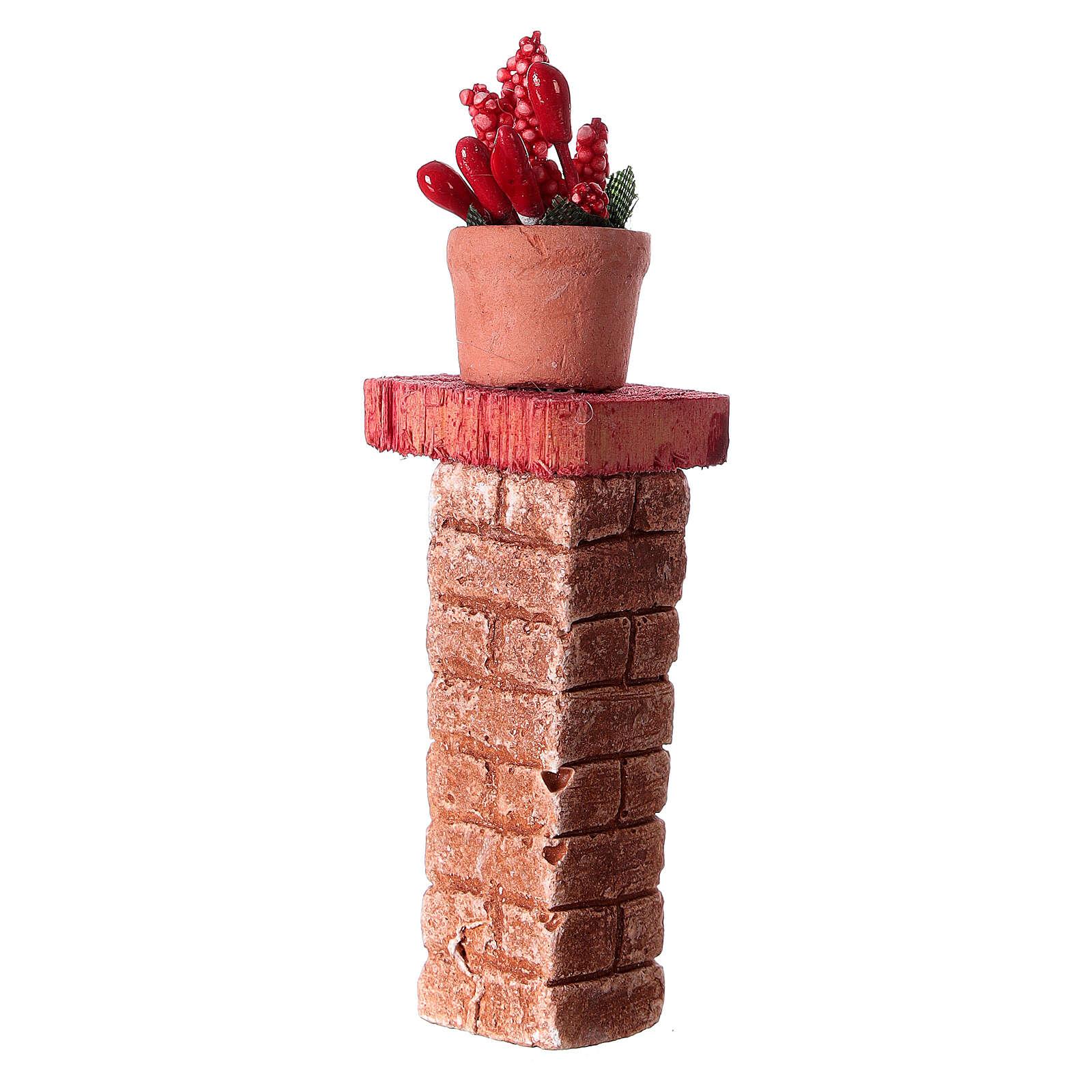 Colonna con vaso 3x3x10 colori assortiti presepe 10-12 cm 4