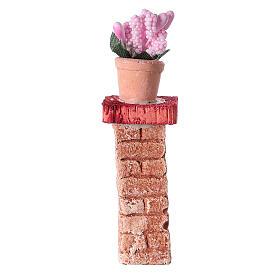 Colonna con vaso 3x3x10 colori assortiti presepe 10-12 cm s1