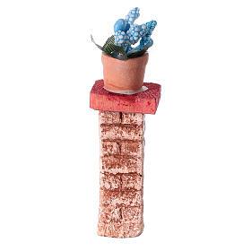 Colonna con vaso 3x3x10 colori assortiti presepe 10-12 cm s4
