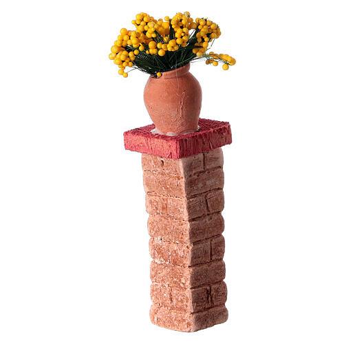Colonna con vaso 3x3x10 colori assortiti presepe 10-12 cm 2