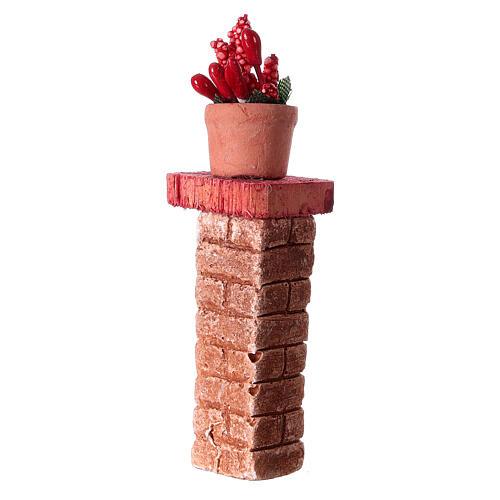 Colonna con vaso 3x3x10 colori assortiti presepe 10-12 cm 3