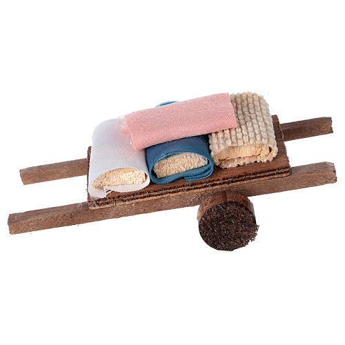 Cart with fabric 6x13x3.5 1