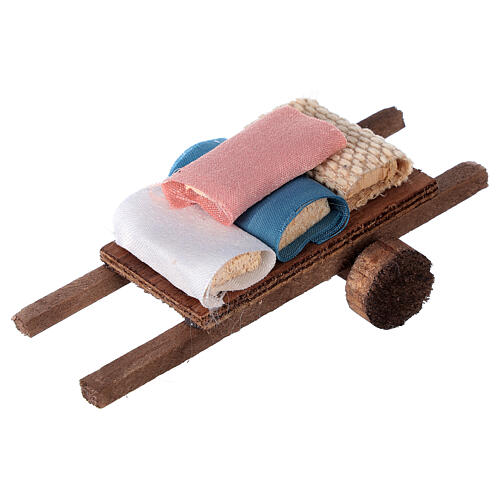 Cart with fabric 6x13x3.5 2