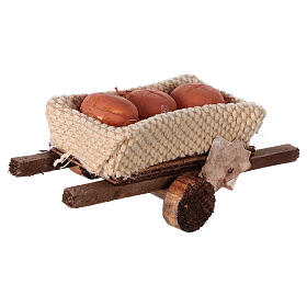 Cart with bread loaves 6x13x3.5 s4