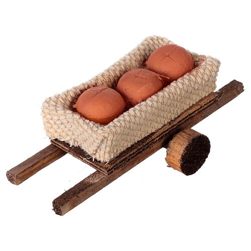 Cart with bread loaves 6x13x3.5 2