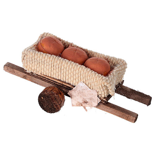 Cart with bread loaves 6x13x3.5 3