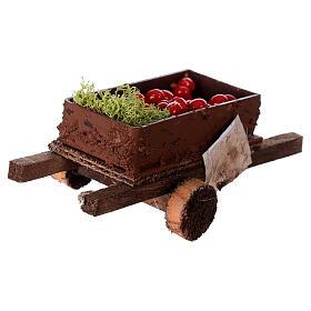 Carretto con verdura 5x15x5 presepe 8-10 cm s4