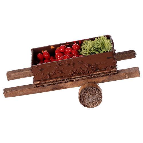 Carretto con verdura 5x15x5 presepe 8-10 cm 1