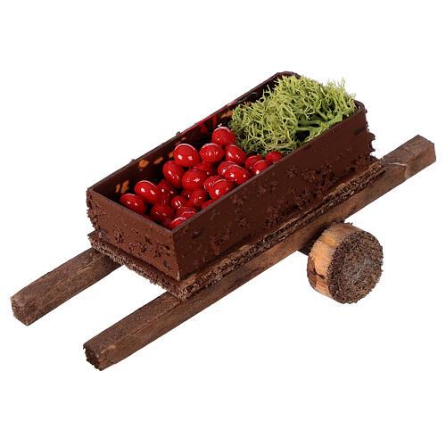 Carretto con verdura 5x15x5 presepe 8-10 cm 2