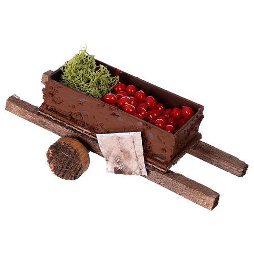 Carretto con verdura 5x15x5 presepe 8-10 cm 3