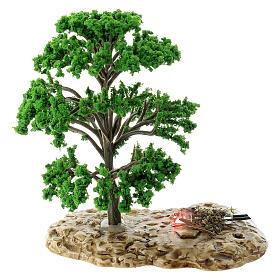 Baum, Flammeneffekt, Moranduzzo, für 12 cm Krippen s1