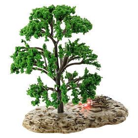 Baum, Flammeneffekt, Moranduzzo, für 12 cm Krippen s2