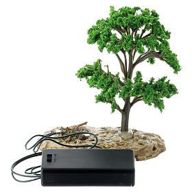 Baum, Flammeneffekt, Moranduzzo, für 12 cm Krippen s4