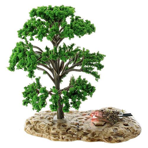 Baum, Flammeneffekt, Moranduzzo, für 12 cm Krippen 1