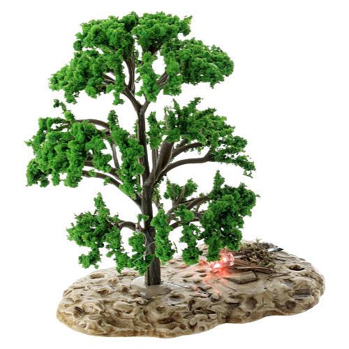 Baum, Flammeneffekt, Moranduzzo, für 12 cm Krippen 2