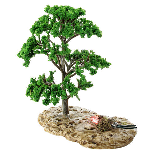 Baum, Flammeneffekt, Moranduzzo, für 12 cm Krippen 3