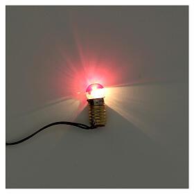 Casquilho E10 3,5 V com ficha e lâmpada vermelha s2