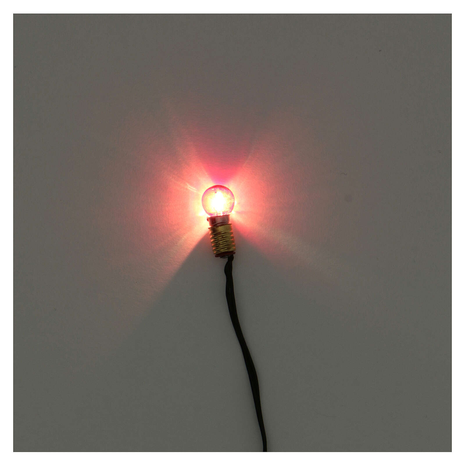 Portalampada E5 con lampadina luce rossa e spina 3,5V 4