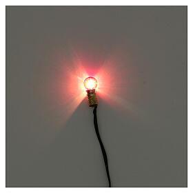 Portalampada E5 con lampadina luce rossa e spina 3,5V s2