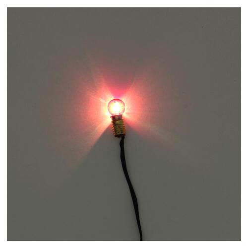 Portalampada E5 con lampadina luce rossa e spina 3,5V 2