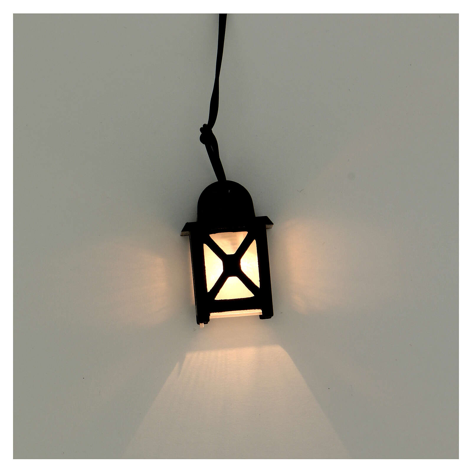 Lanterna luce bianca h 3,5 cm presepe 8-10 cm 4