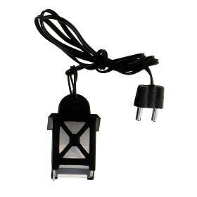 Lanterna luce bianca h 3,5 cm presepe 8-10 cm s1