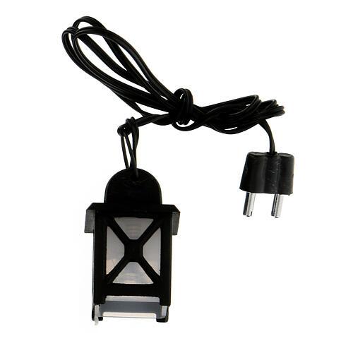 Lanterna luce bianca h 3,5 cm presepe 8-10 cm 1