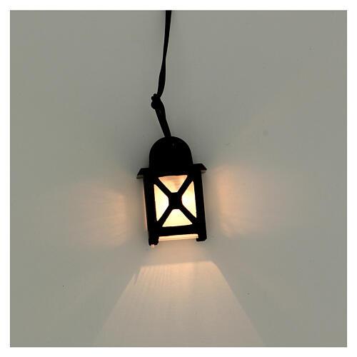 Lanterna luce bianca h 3,5 cm presepe 8-10 cm 2