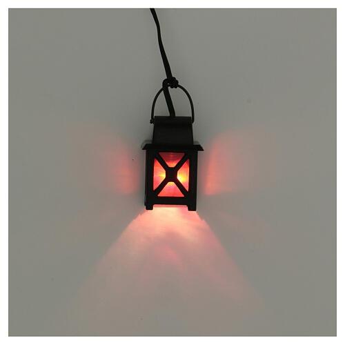 Lanterna bassa tensione luce rossa presepe 8-10 cm 2