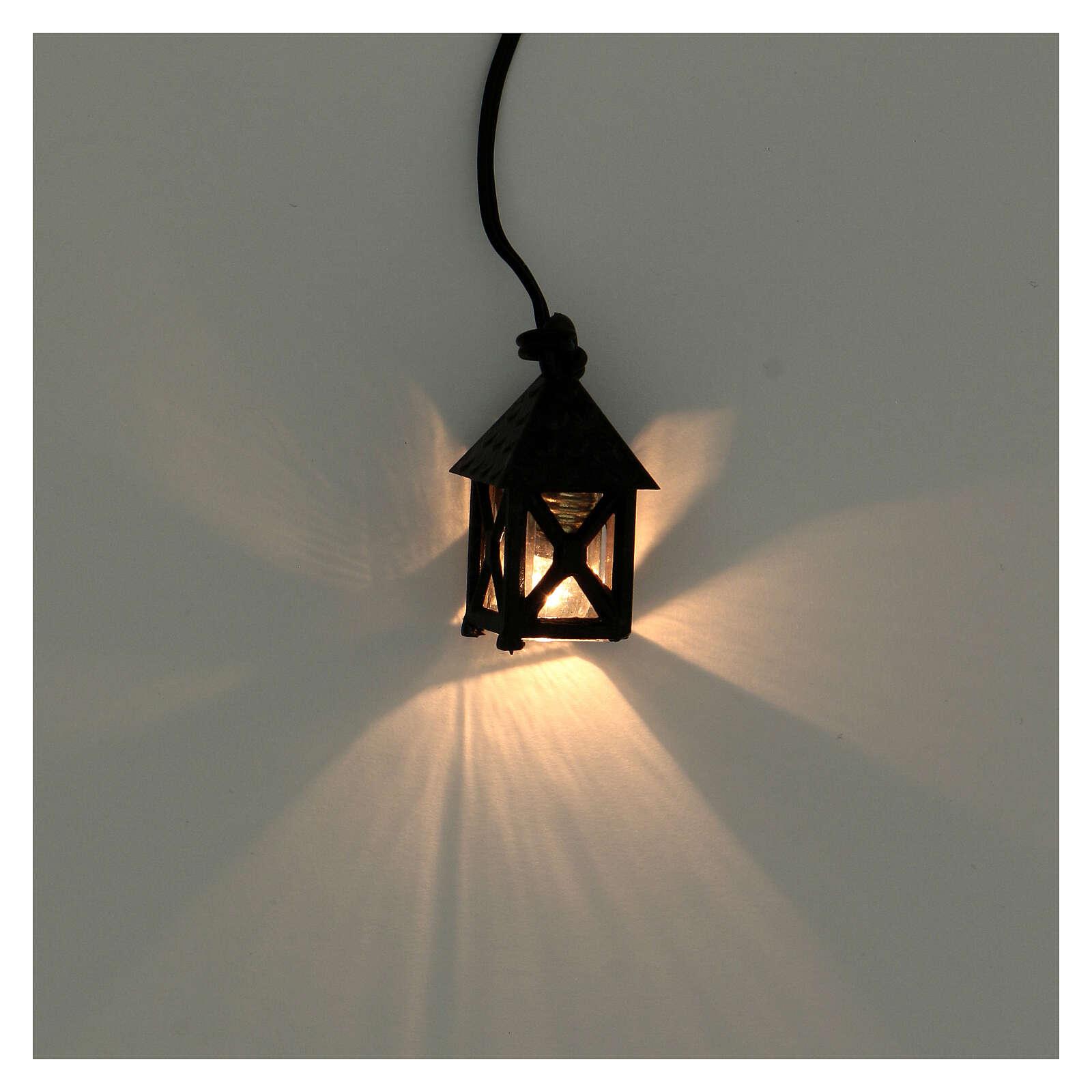 Lanterna presepe fai da te 8 cm luce bianca h 2,5 cm 4