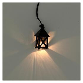 Lanterna presepe fai da te 8 cm luce bianca h 2,5 cm s2