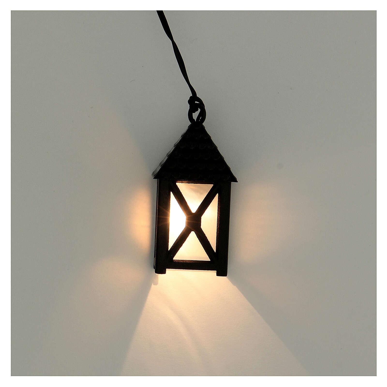 Lanterna de luz branca em miniatura 5 cm baixa voltagem para presépio com figuras altura média 10 cm 4