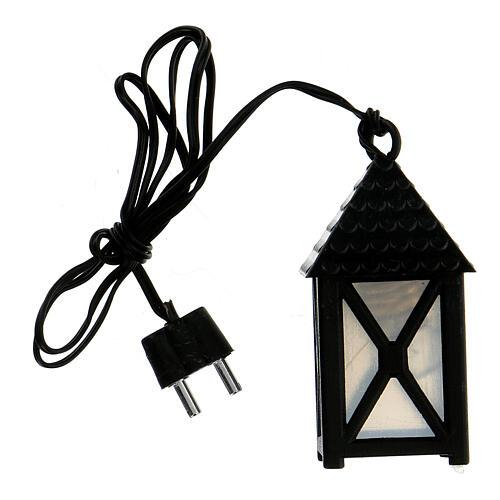 Lanterna de luz branca em miniatura 5 cm baixa voltagem para presépio com figuras altura média 10 cm 1