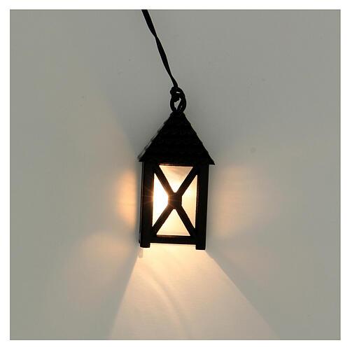 Lanterna de luz branca em miniatura 5 cm baixa voltagem para presépio com figuras altura média 10 cm 2