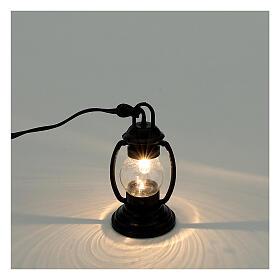 Lanterna de luz branca em miniatura estilo antigo 4 cm 3,5 V para presépio com figuras altura média 8-10 cm s2