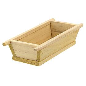 Madia semplice legno 5x10x5 presepe 12 cm s3