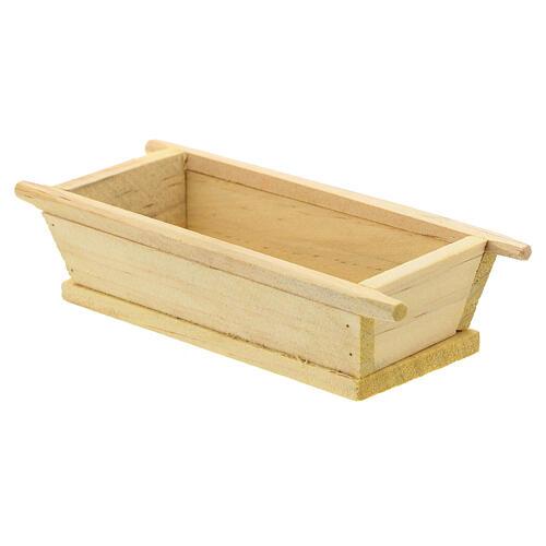 Madia semplice legno 5x10x5 presepe 12 cm 2