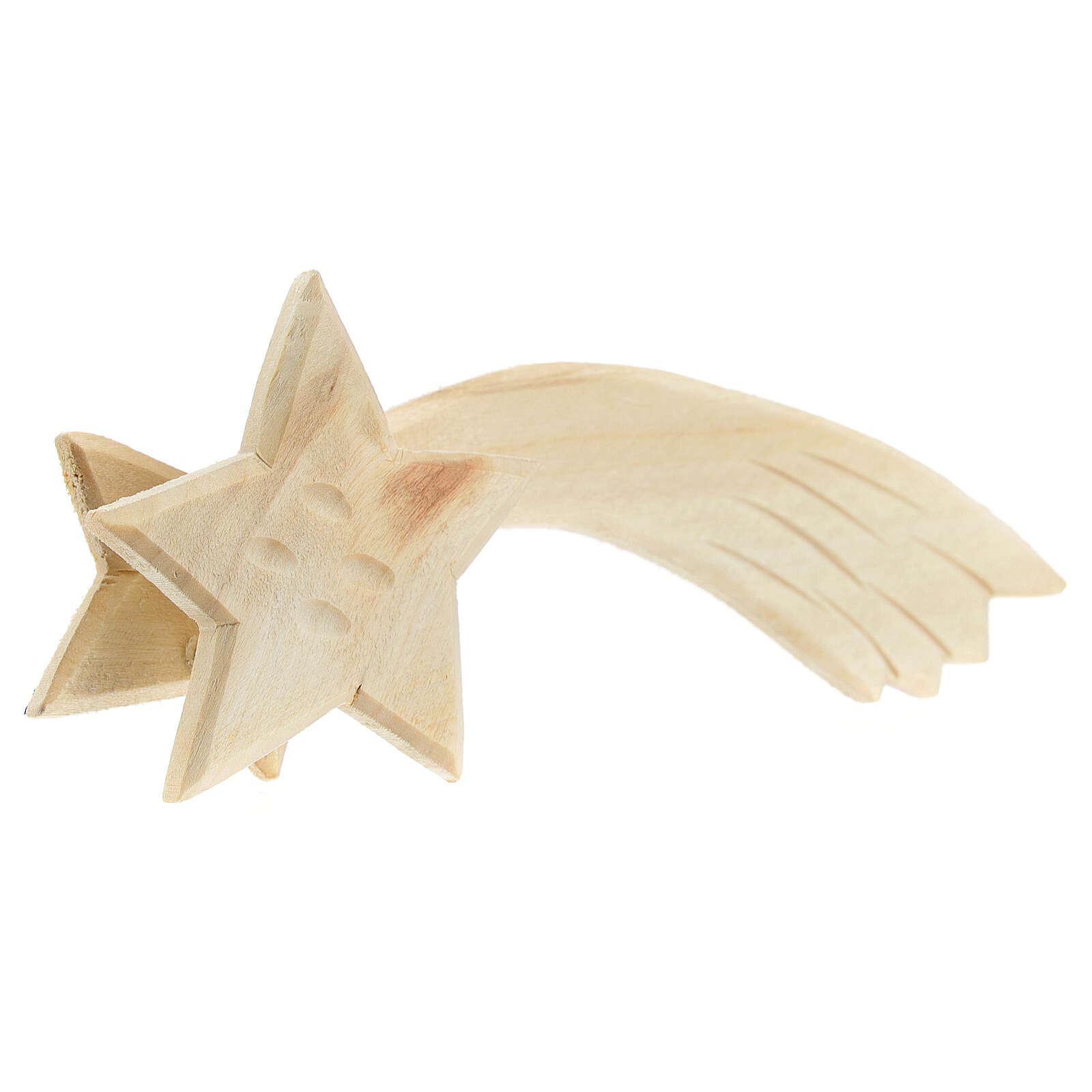Estrella cometa madera y luz 3,5V 15x5x2 cm 4