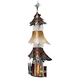 Albero di natale con regali metallo h 62 cm s3