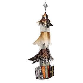 Albero di natale con regali metallo h 62 cm s4