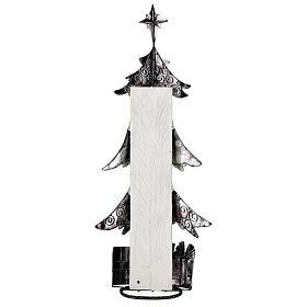 Albero di natale con regali metallo h 62 cm s5