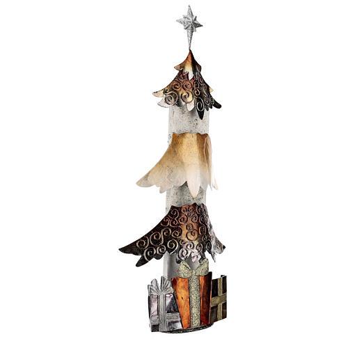 Albero di natale con regali metallo h 62 cm 4