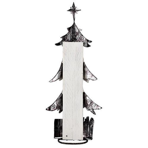 Albero di natale con regali metallo h 62 cm 5