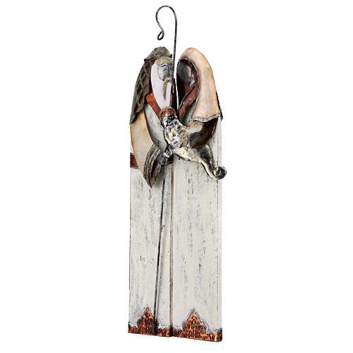 Statua Sacra Famiglia metallo stilizzata h 60 cm 3